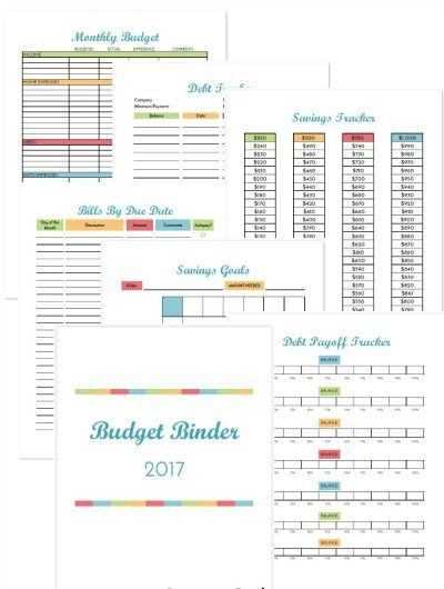 2017 Budget Binder Printable How To Organize Your Finances Binder - Download Budget Spreadsheet