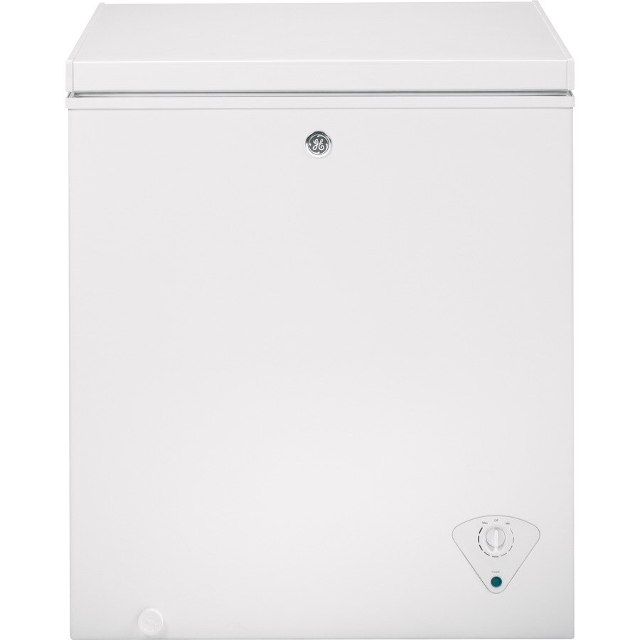 Ge Garage Ready 5 Cu Ft Manual Defrost Chest Freezer White At
