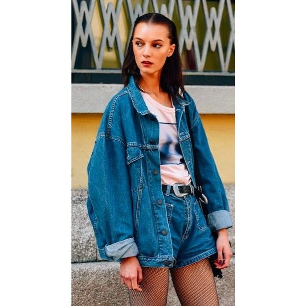 Pin By Valerie Miers On Denim Rambler Fashion 90s Fashion How To Wear Denim Jacket