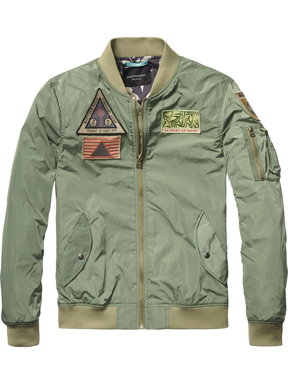 bomber jacket jackets men clothing at scotch soda men. Black Bedroom Furniture Sets. Home Design Ideas