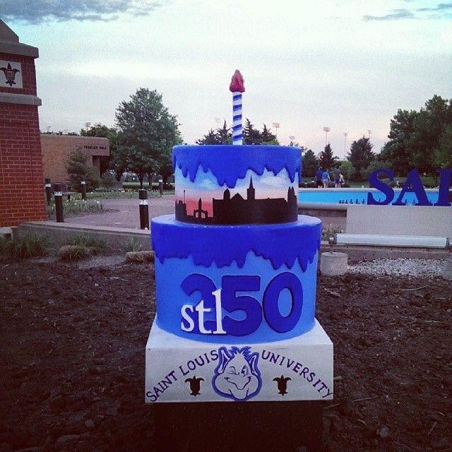 Pleasant Stl250 Saint Louis University Birthday Cake Saint Louis University Funny Birthday Cards Online Alyptdamsfinfo