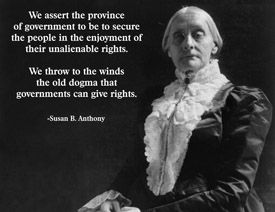 Susan B. Anthony Historical people, Today in history