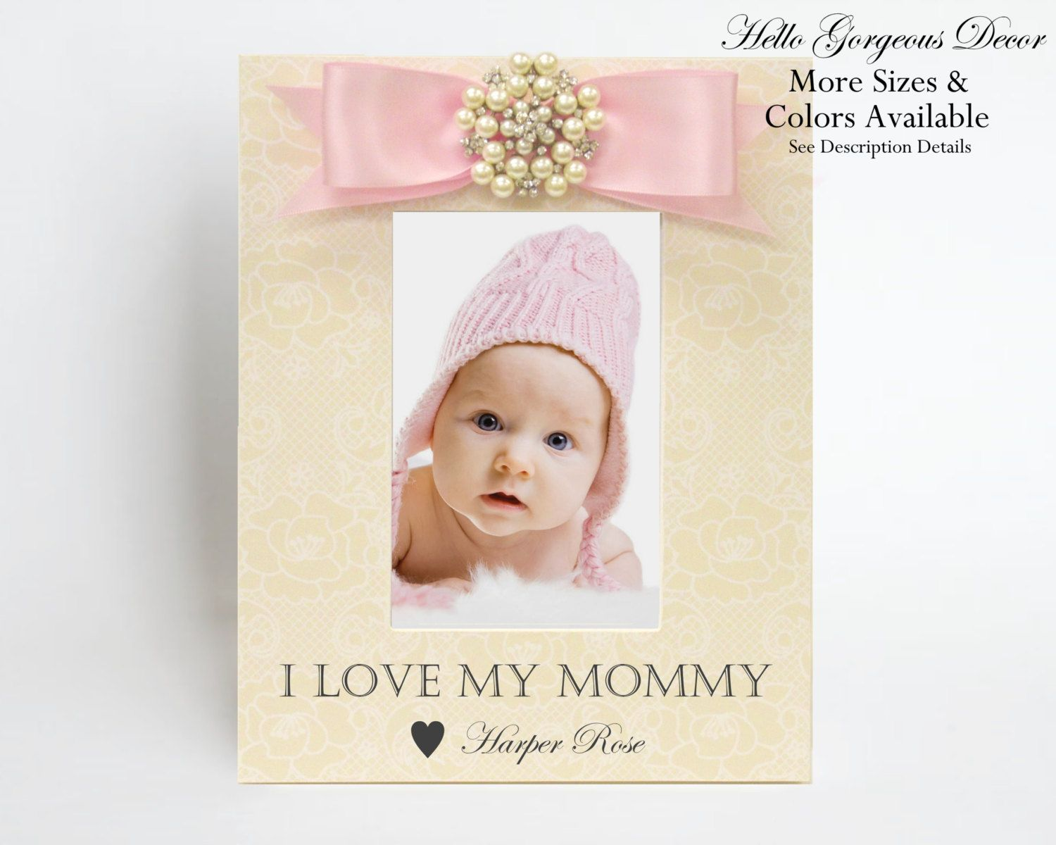 Baby Personalized Gift Picture Frame New Mom Mother Shower Present ...