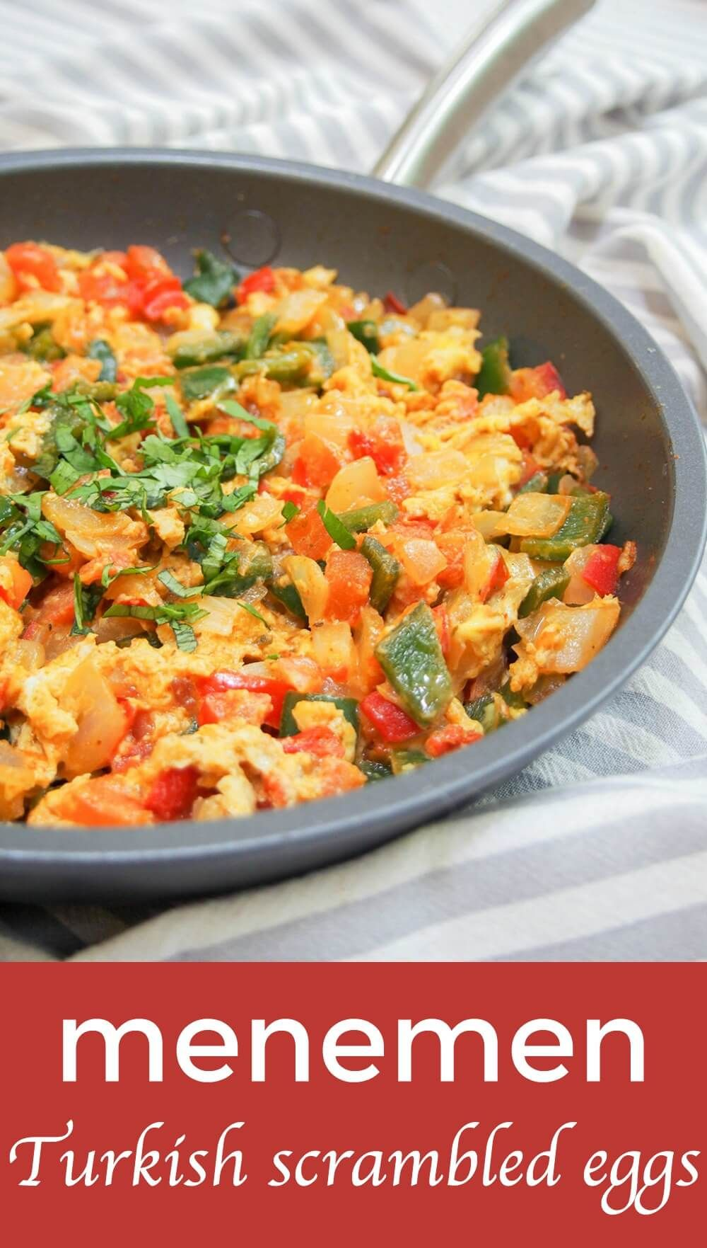 Menemen might not be a well known dish, but once you give it a try, it will soon be well-loved. It's similar to shakshuka, but this vegetable-packed scramble is worth getting to know in it's own right. Easy, with fresh but comforting flavors, it's perfect any meal of the day.