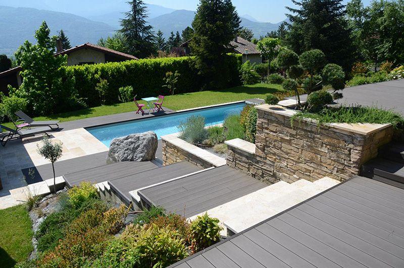 Carnet D Inspiration La Piscine Paysagee Avec Images Amenagement Jardin Jardin En Pente Piscine