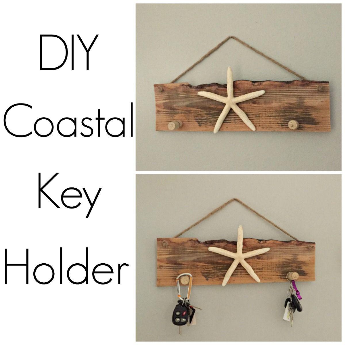 Cheap Do It Yourself Home Decor: DIY Beach Themed Key Holder -