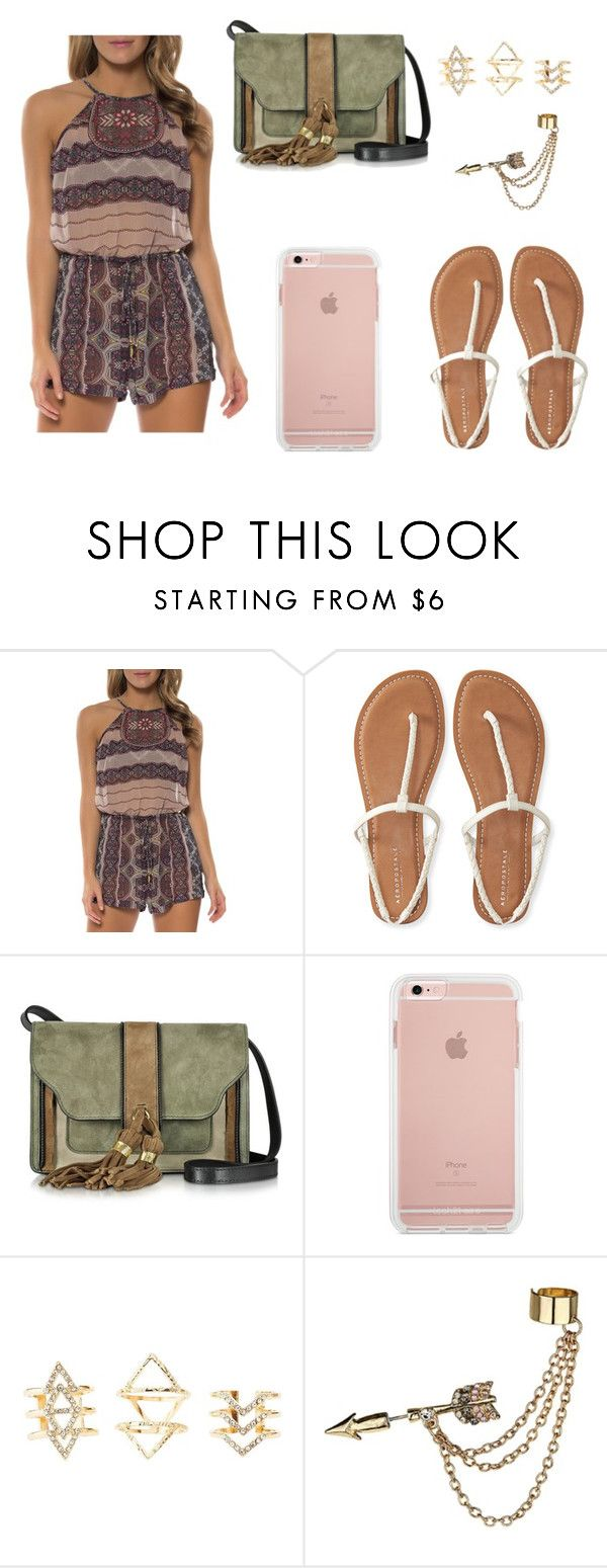 """Untitled #59"" by aly267 on Polyvore featuring Jessica Simpson, Aéropostale, L'Autre Chose, Charlotte Russe and Emi Jewellery"