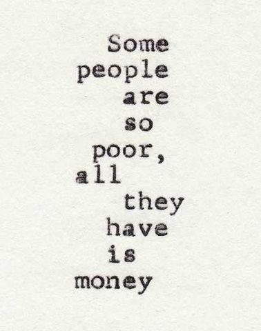 So poor