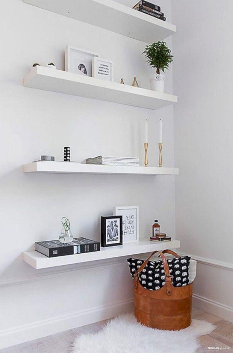 41 Awesome Corner Shelves Decoration Ideas Bedroom Decor Dark Minimalist Bedroom Decor Shelves
