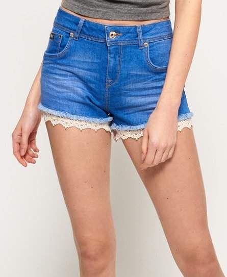 Sebaby Men Cuffed Pocket Skinny Casual Washed Bodysuit Denim Shorts