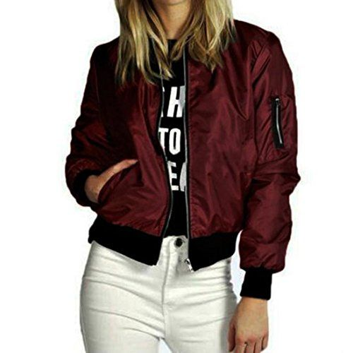 veste blouson jacket bomber femme nouvellesreaso mode manteau mince biker moto zipper souple. Black Bedroom Furniture Sets. Home Design Ideas