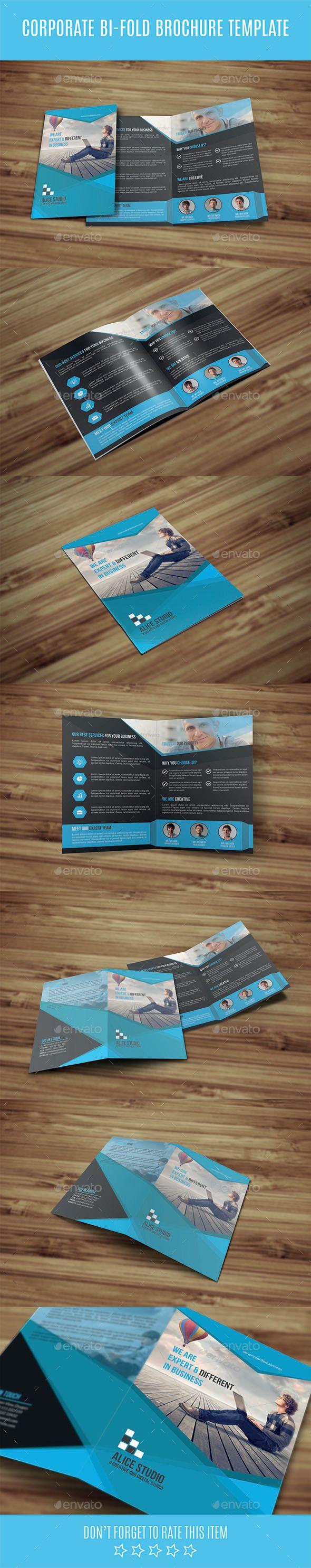 Corporate Bi-Fold Brochure Template - Corporate Brochure Template Vector EPS, Vector AI. Download here: http://graphicriver.net/item/corporate-bifold-brochure-template/12264193?s_rank=1706&ref=yinkira