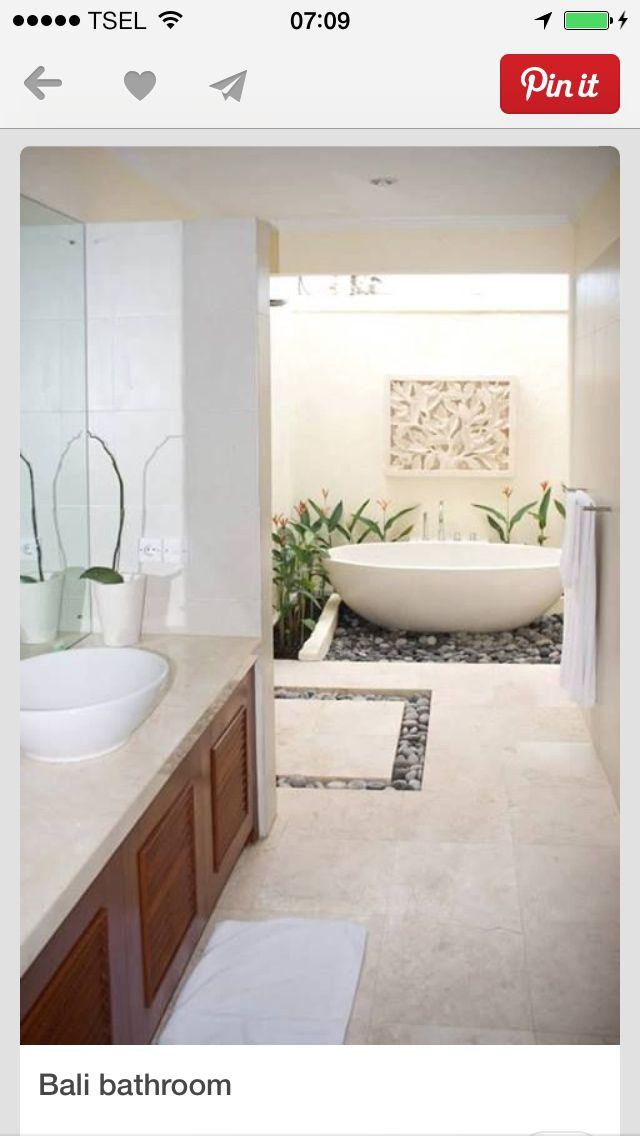Bali bathroom in the bathroom remodelagem de banheiro decora o banheiro e banheiro tropical for Vasche da bagno esterne