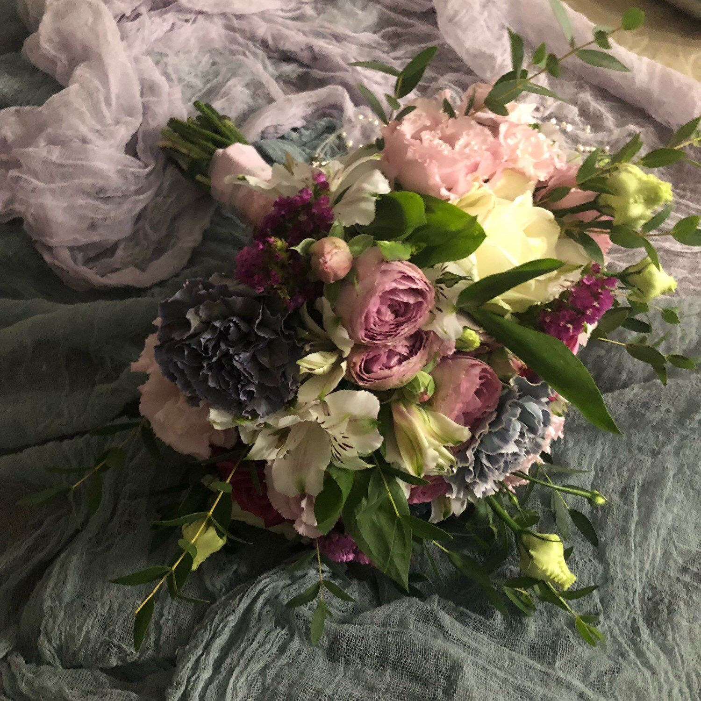 Dusty Blue Boho Wedding invitation Hand dyed Cotton Ribbon 1 Rustic Bridal Shower decoration Country Wedding bouquet ribbons