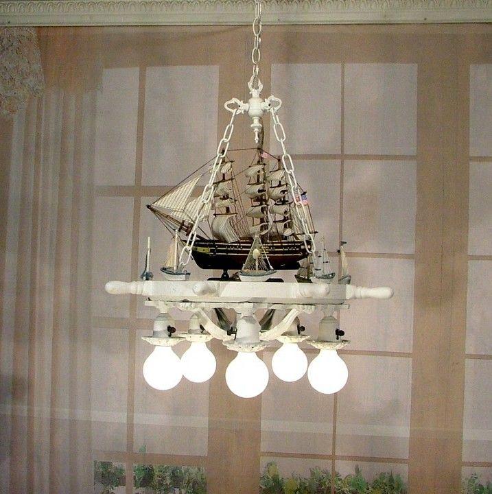 Nautical sailing ship wood ships wheel chandelier ceiling light nautical sailing ship wood ships wheel chandelier ceiling light boat lamp wow ebay mozeypictures Images