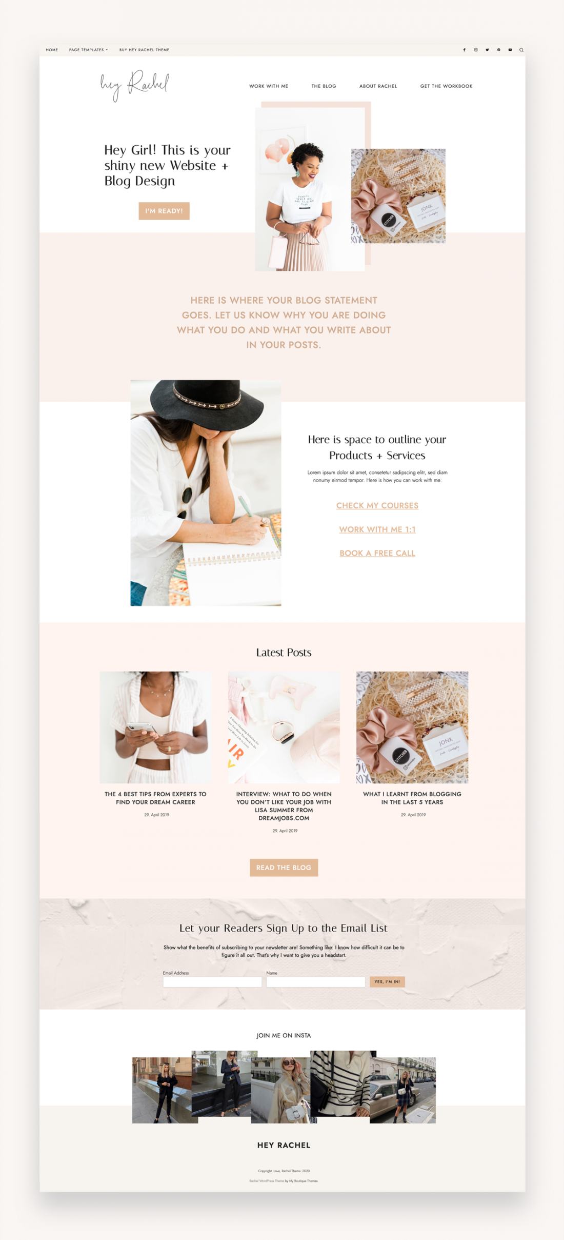 Hey Rachel WordPress Theme - Market WP Themes