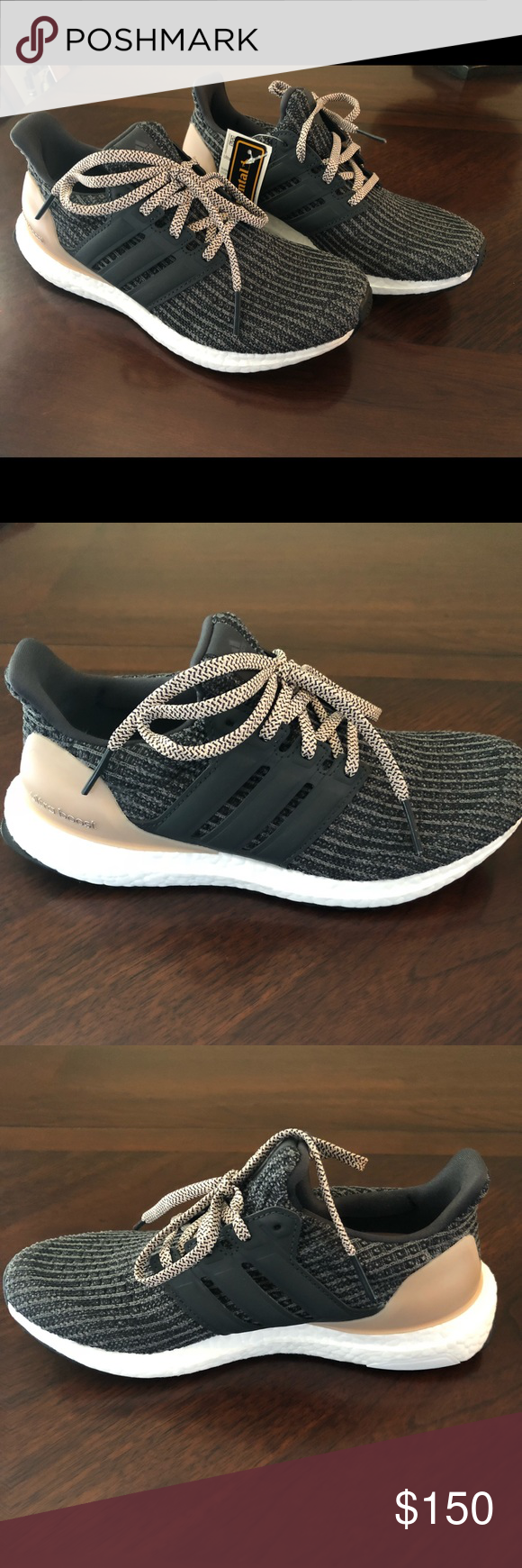 395f976dfbdf4 Adidas UltraBoost Item  Adidas UltaBoost 4.0 Item    BB6151 Size  Women s  6.5 Color  grey five carbon ash pearl Conditions  Brand New  Never Worn  with Tags ...