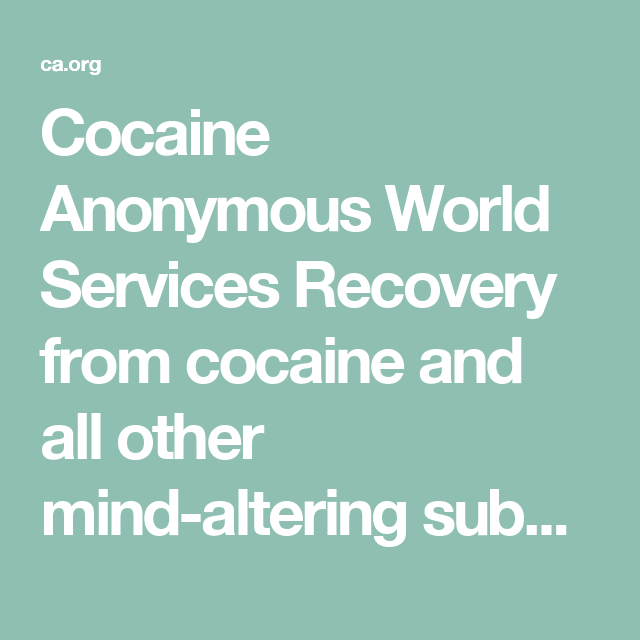 CA | Cocaine Anonymous World Services