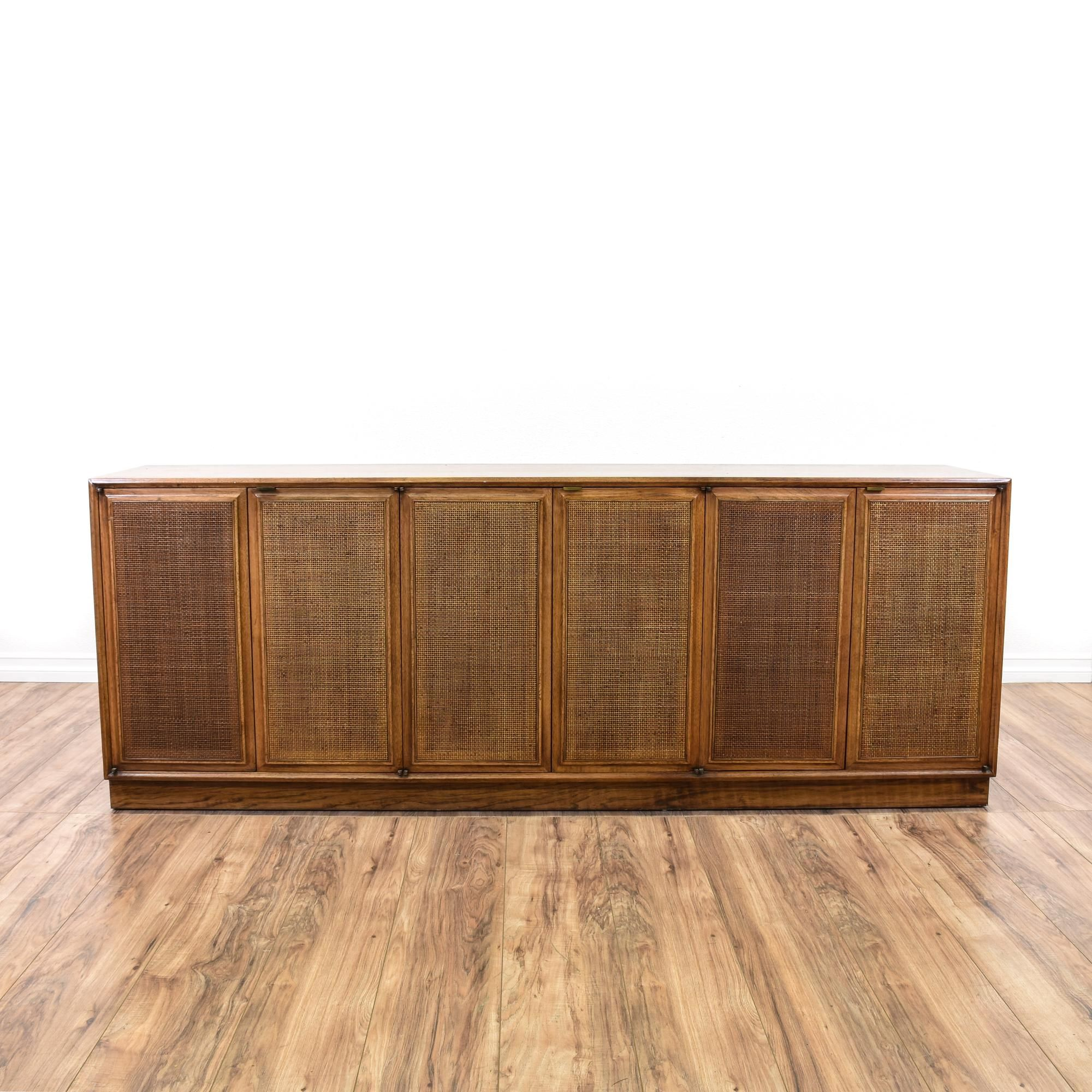 "This ""Founders"" sideboard buffet is featured in a solid wood with a"