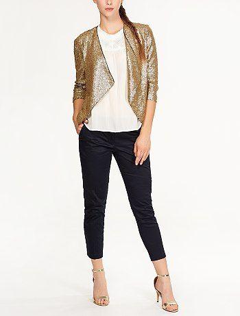 4dc9340019f63 Veste à sequins doré Femme - Kiabi   my style