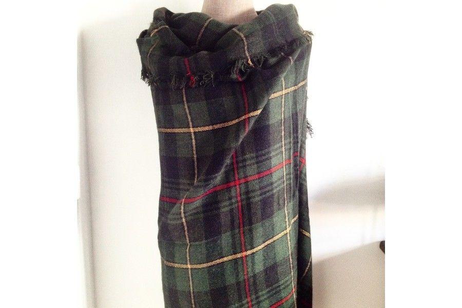 Echarpe homme tartan vert - Idée pour s habiller 1d19c61d9e4