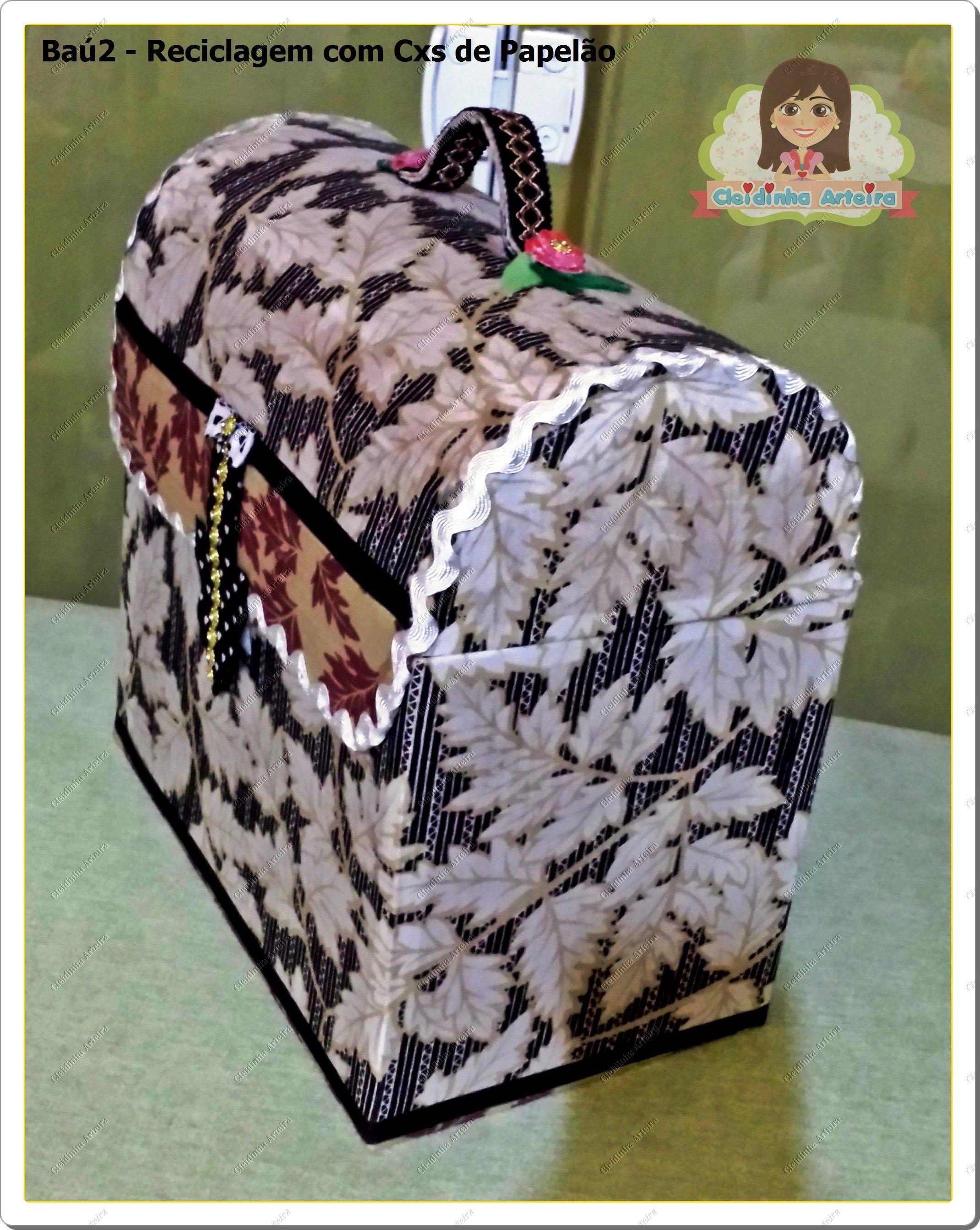 Baú para retalhos de tecido do atelier Cleidinha Arteira mimos em Feltro