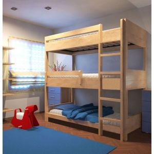 lit superpos triple bois pour les enfants pinterest lit superpos triple lit superpos. Black Bedroom Furniture Sets. Home Design Ideas