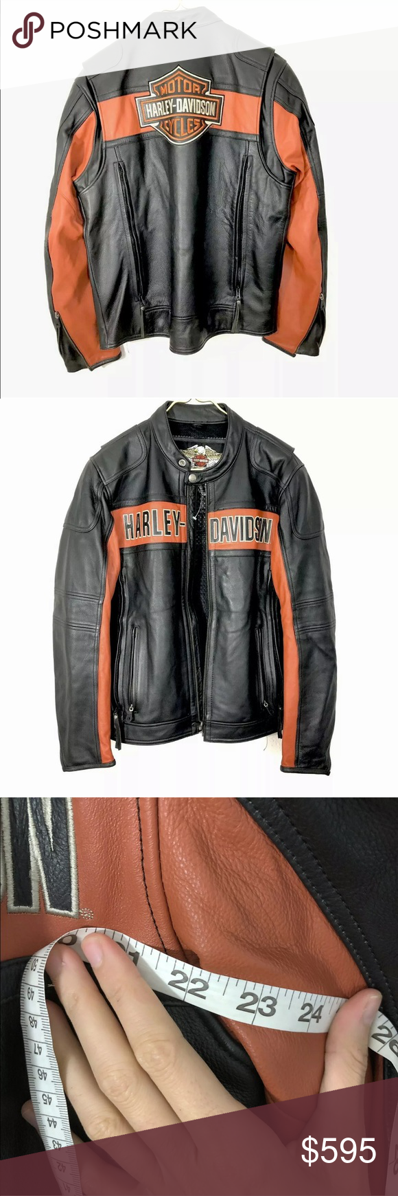 Harley Davidson Victory Lane Leather Jacket M New Harley