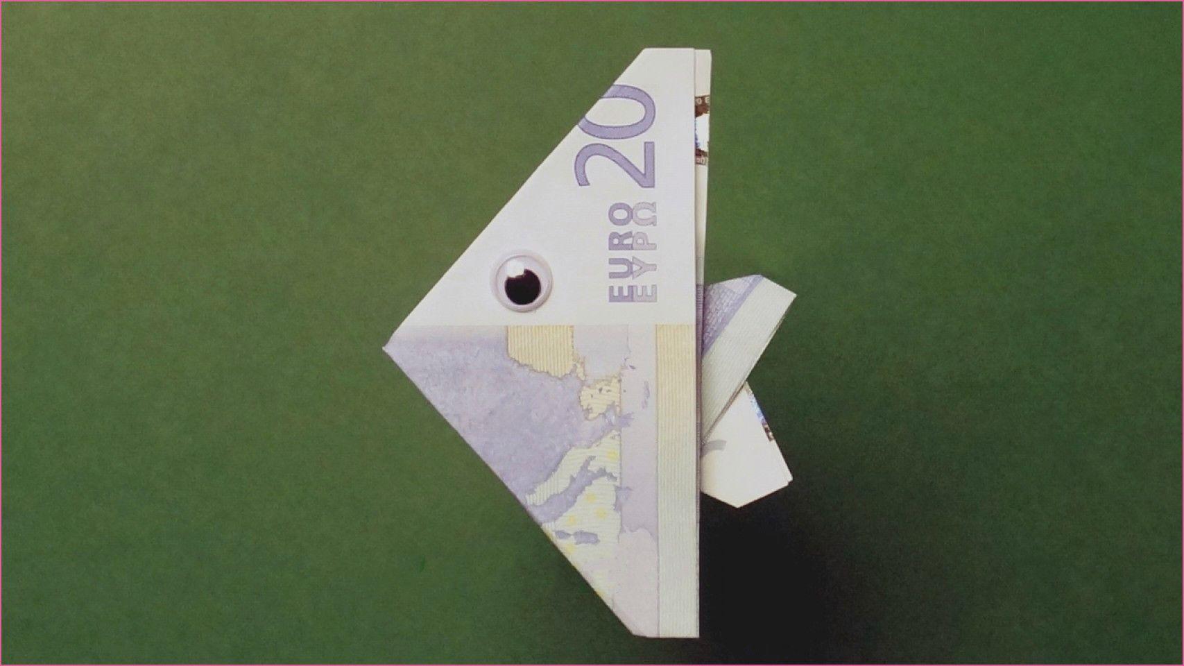 genial Geldscheine Falten Fisch Einfach #serviettenfalteneinfach