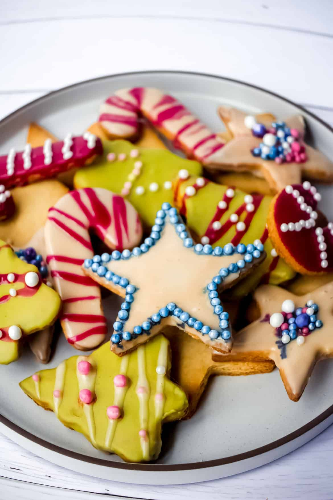 Almond Flour Holiday Shortbread Cookies Christmas Cookie Party