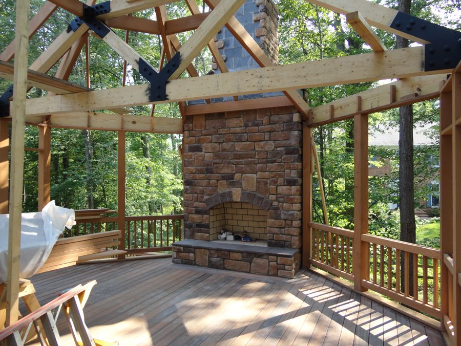 Images gazebo with fireplace fireplace photos log for Plans for gazebo with fireplace