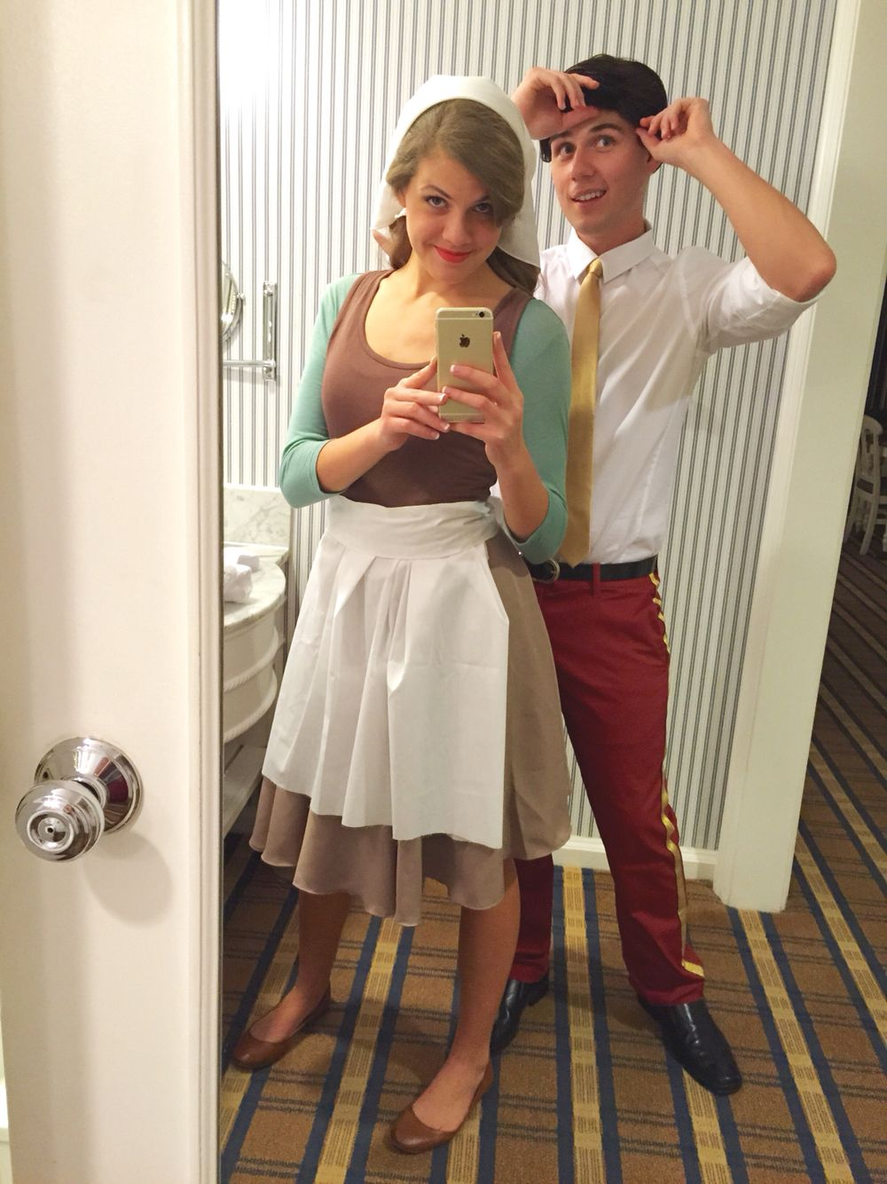 Easy DIY Cinderella u0026 Prince Charming couple costume! (All from our wardrobes with the exception ...