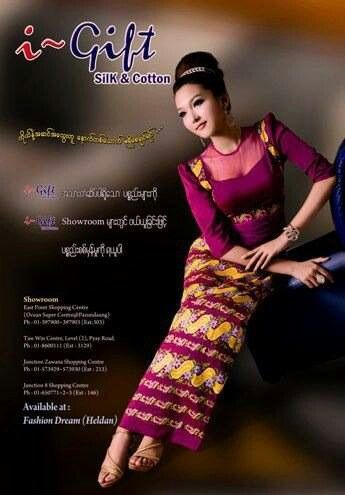 Myanmar fashion what i call elegance pinterest traditional myanmar fashion thecheapjerseys Images