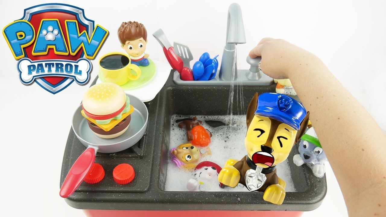 Paw Patrol are hungry and want to make food in the Kitchen. We ...