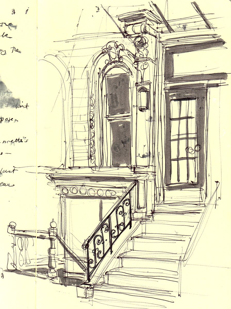 Inside House Drawing: I Don't Know Why But This Sketch Evoke A Sense Of
