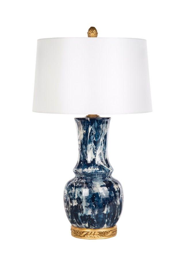 Bradburn Gallery Home Blue Monterey Lamp 30 Parker Kennedy