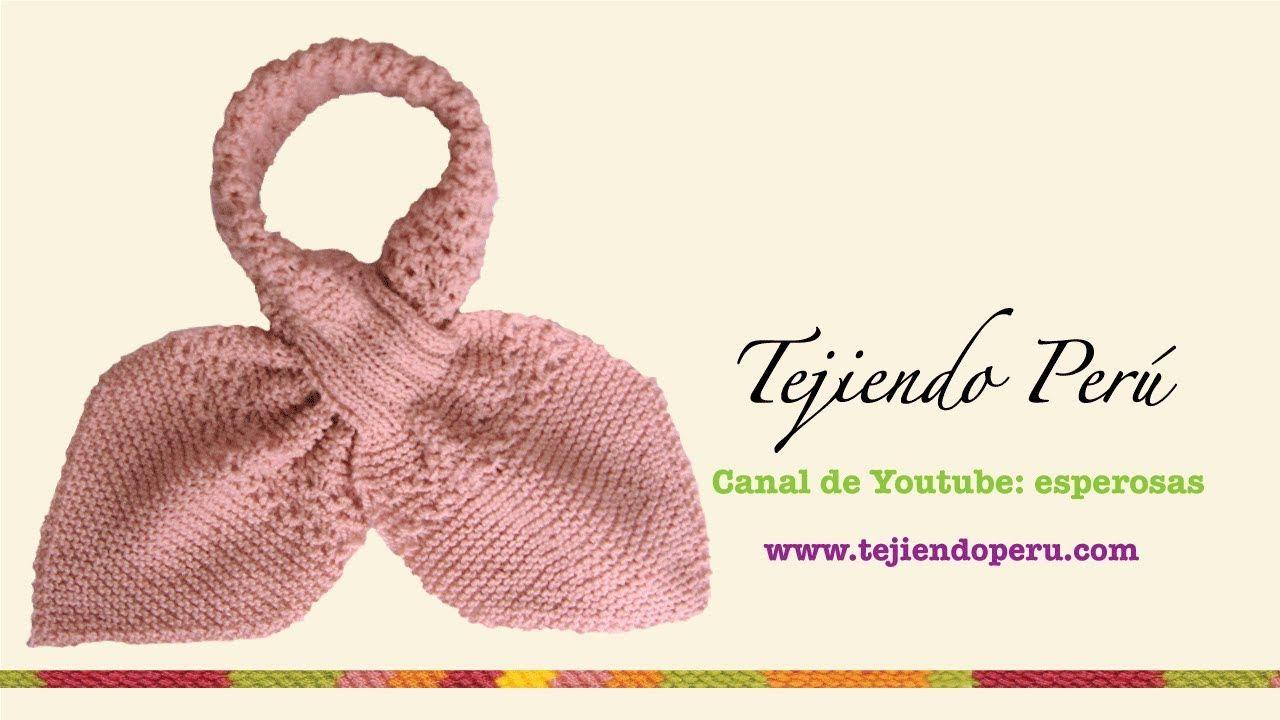 Bufanda gatito en dos agujas (Knitted neck scarf) Parte 1 | gorros ...