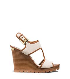dbfe9529aee0 Michael Kors-Gillian Canvas and Leather Wedge