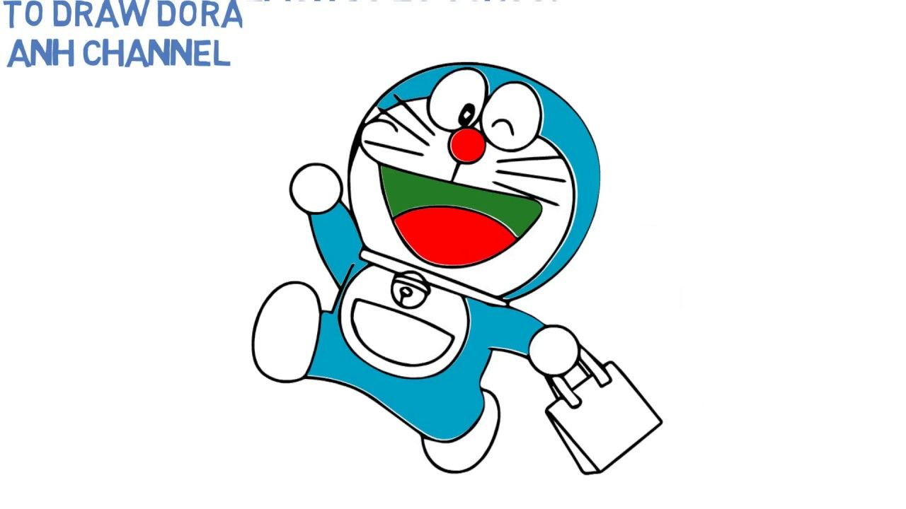 How To Draw Doraemon Go To School - Learn Color for Kids