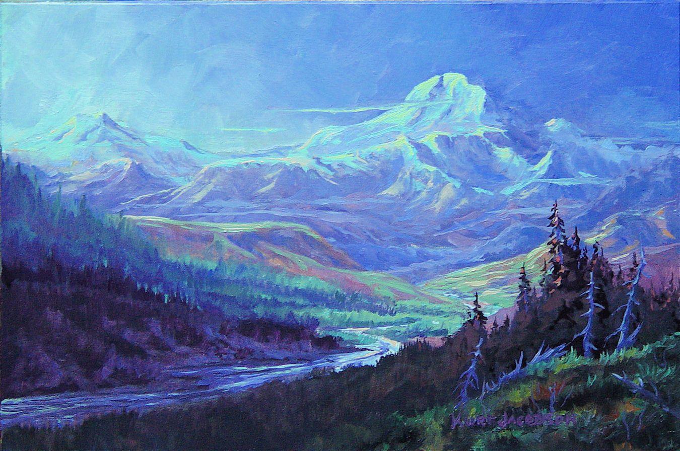 Blue Denali Kurt Jacobson Alaskan Artist