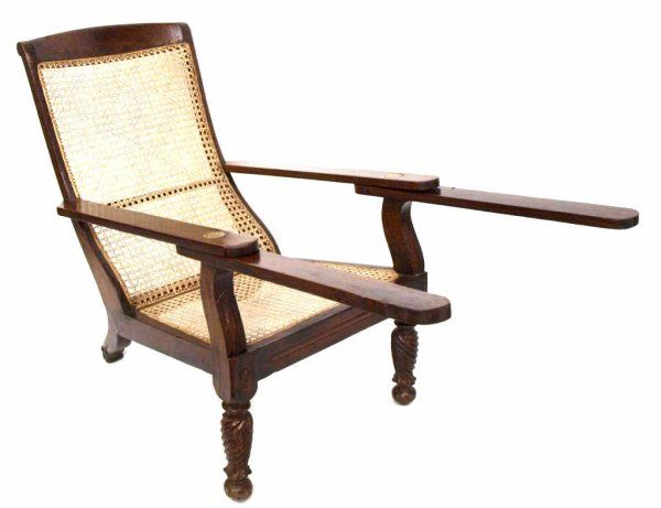 978: ANTIQUE COLONIAL ROSEWOOD & CANE PLANTATION CHAIR : Lot 978 - 978:  ANTIQUE - Antique Plantation Chair Antique Furniture