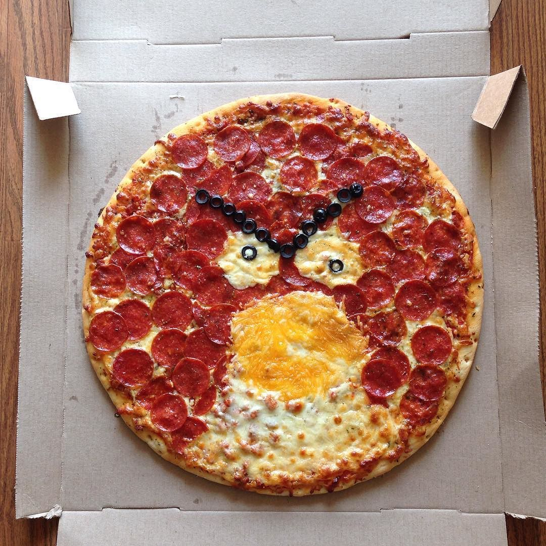 Any guesses on what kind of family night we're having?  #angrybirds #pizza #redbird #dinner #familyfun #family #movienight #familyfunday