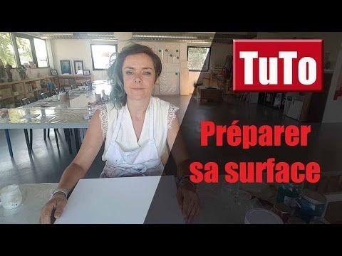 Comment bien préparer sa toile avant de peindre ? - YouTube
