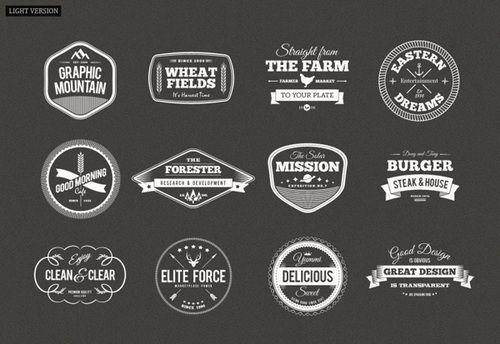 trendgraphy: Retro Vintage Badge Set of... - Typography & Quotes ...
