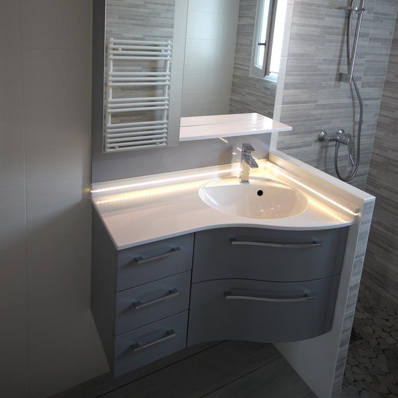 meuble d angle de salle de bains