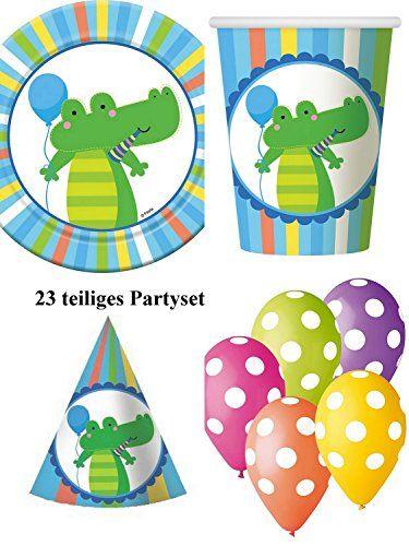 Partyset Krokodil blau 23 teilig Babyparty 1.Geburtstag Kindergeburtstag GoDan http://www.amazon.de/dp/B011GD59O6/ref=cm_sw_r_pi_dp_pc58wb0NME3R1