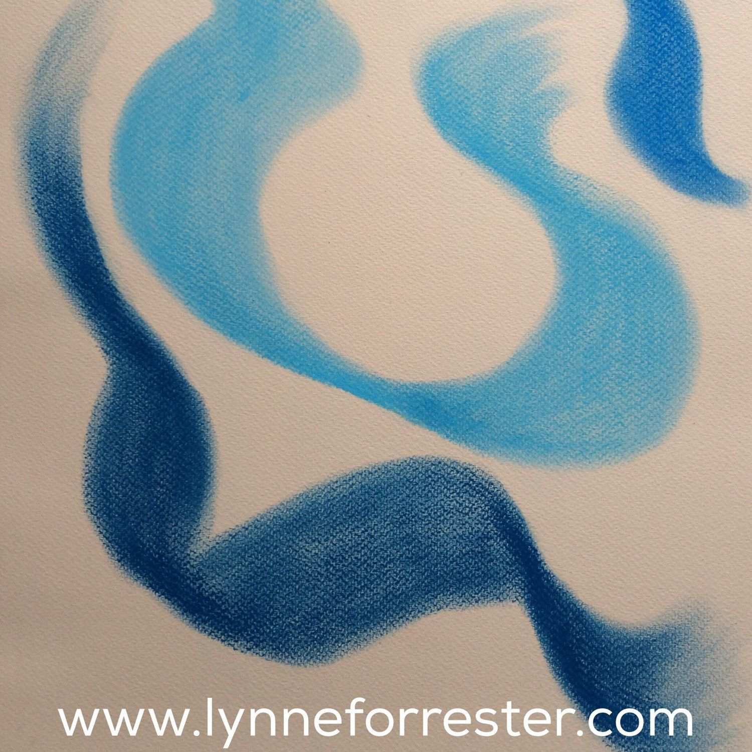 Flowing original pastel abstract art swirling abstract wall art