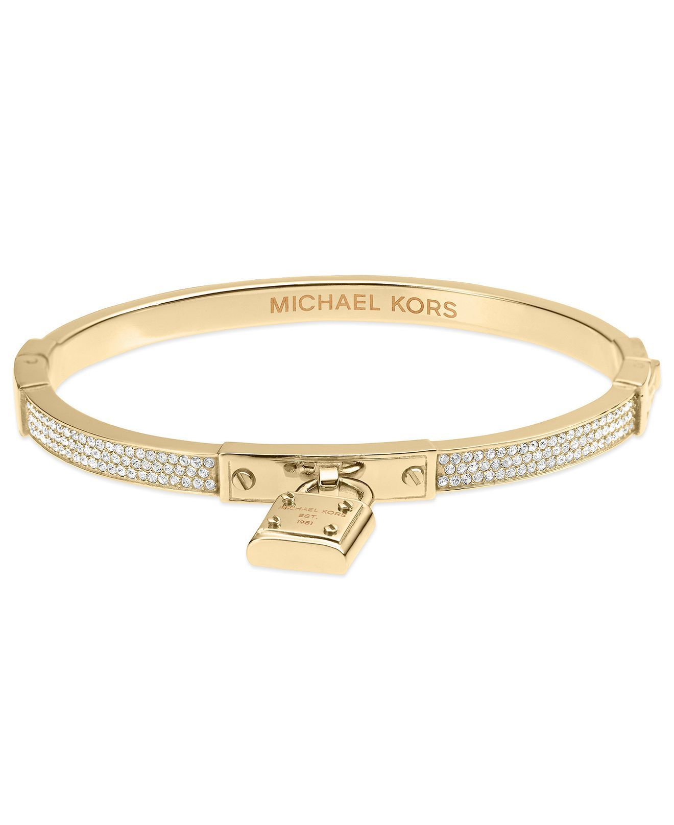 Pandora bracelet dillards - Michael Kors Bracelet Gold Tone Padlock Charm Bracelet Fashion Jewelry Jewelry