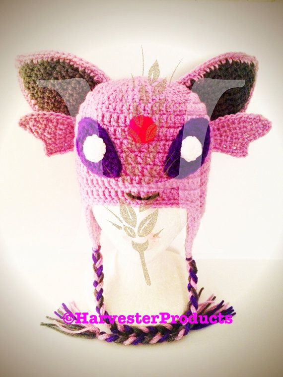 Custom Crochet Pokemon ESPEON Hat by HarvesterProducts on Etsy ...