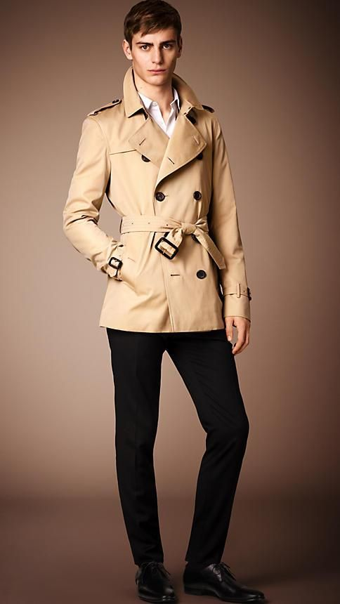 The Kensington – Short Trench Coat in Honey - Men | Trench coats ...